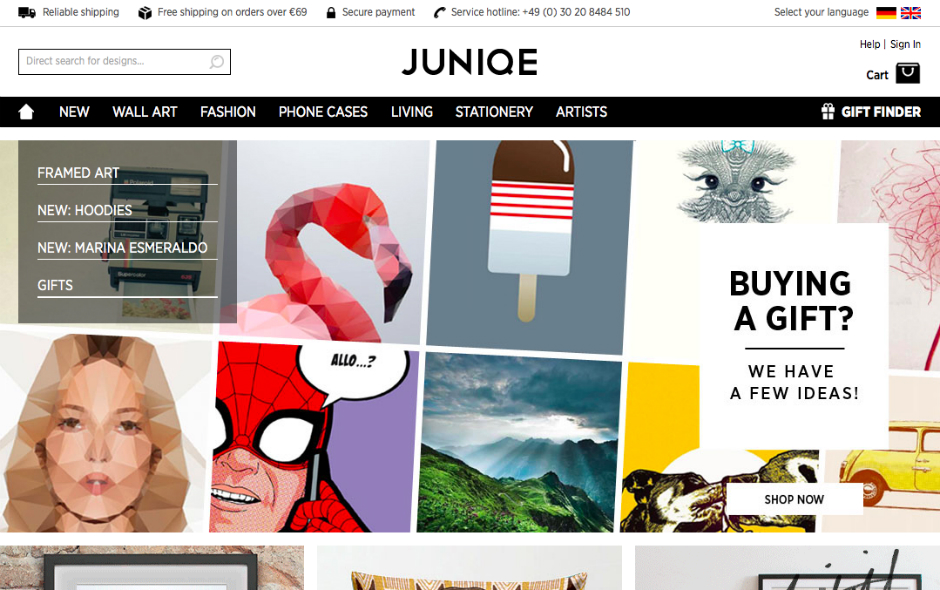 juniqe online shop