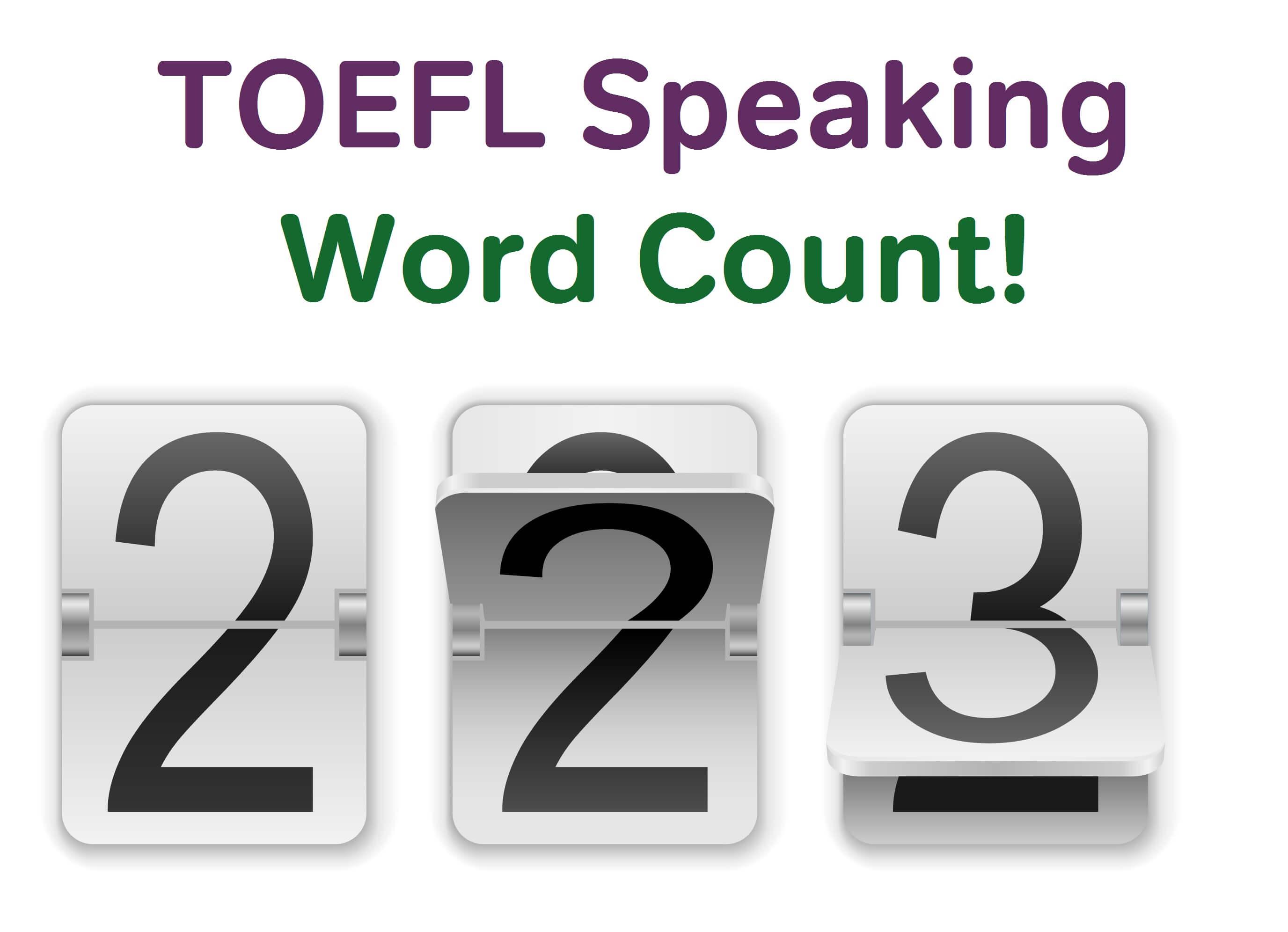 Toefl Speaking Strategy Aim For 100 Words Magoosh Toefl Blog