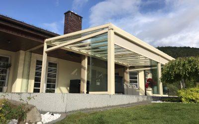Dach szklany ochroni przy każdej pogodzie