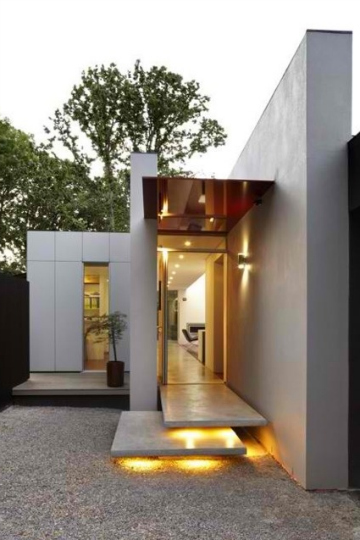 house entrance amber hues