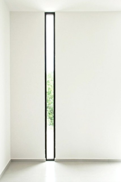 slim black framed windows