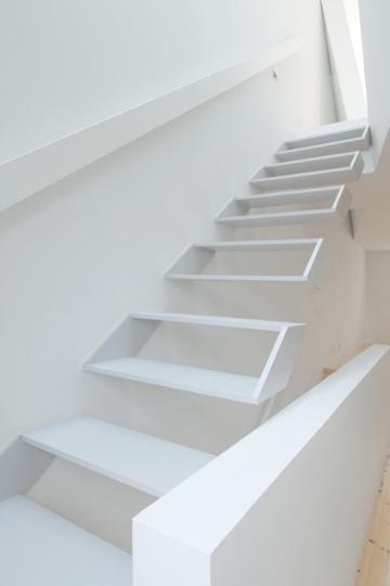 stairs white on white