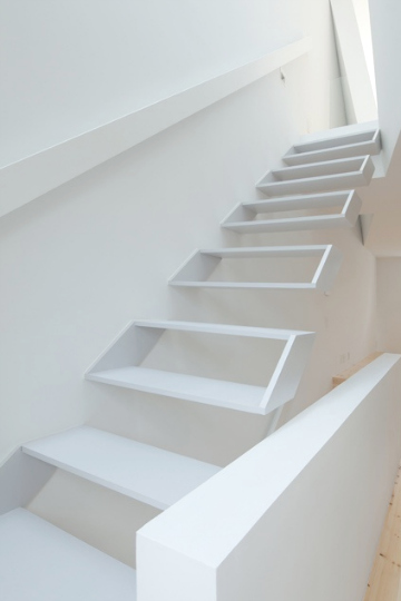 stairs white on white