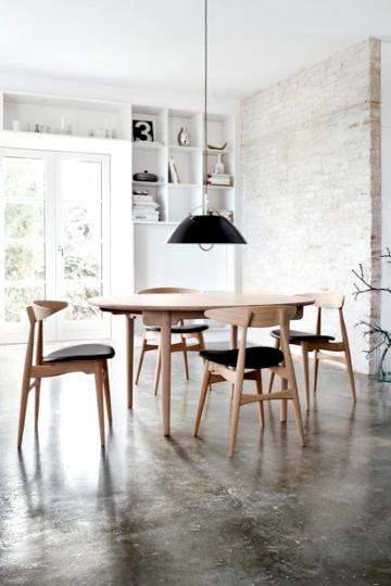 concrete & brick dining