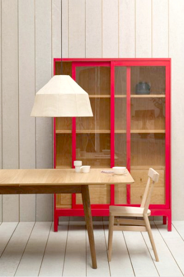 red cabinet