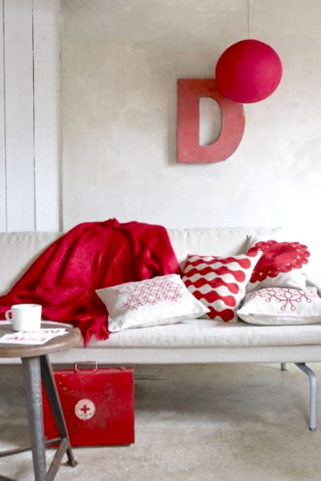red textiles