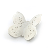 white ceramic earring holder