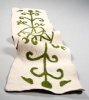 """""""Shamanic Journeying Rug"""" Inlaid felt rug"""