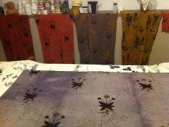 fabric in the studio stages