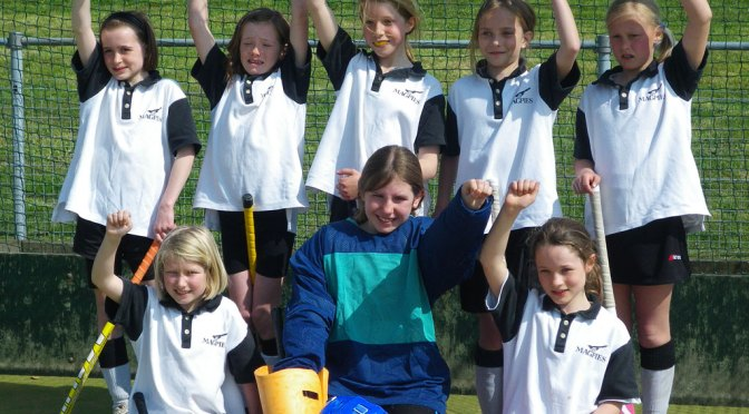 U11 Girls team at Dereham April 2010