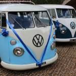 Vintage split screen camper vans vehicles for a vintage wedding