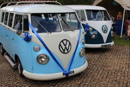 Vintage split screen camper vans vehicles for a vintage wedding