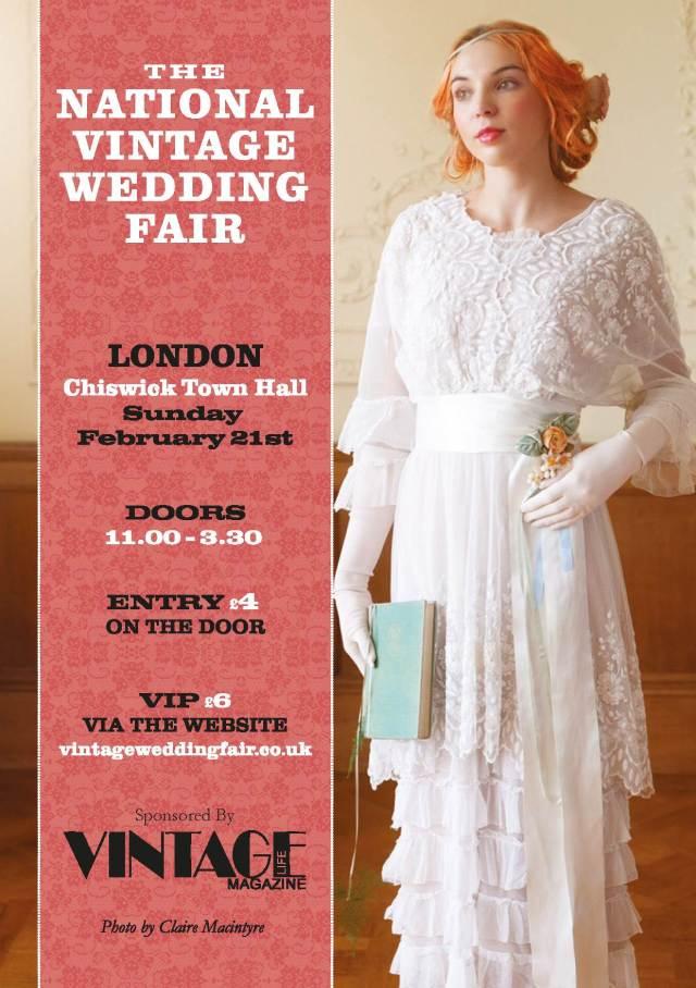 National Vintage Wedding Fair London 2016 Poster