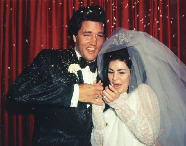 Elvis and Priscilla Presley Styled 1960s wedding shoot