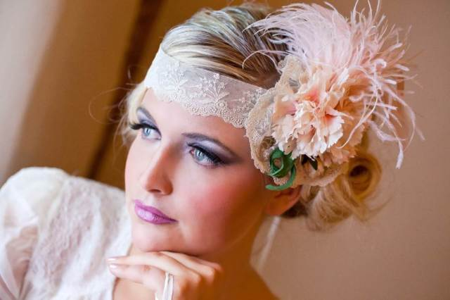 1920s vintage style wedding hair accessories from Crystal Heirlooms