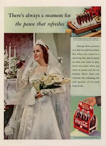 Wedding memories - Vintage wedding adverts we love Coca Cola via the National Vintage Wedding Fair blog