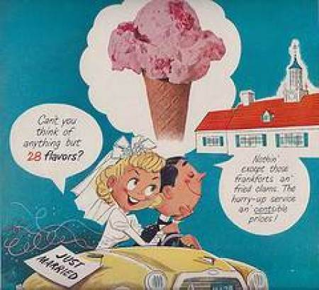 Wedding memories - Vintage wedding adverts we love ice cream stop via the National Vintage Wedding Fair blog