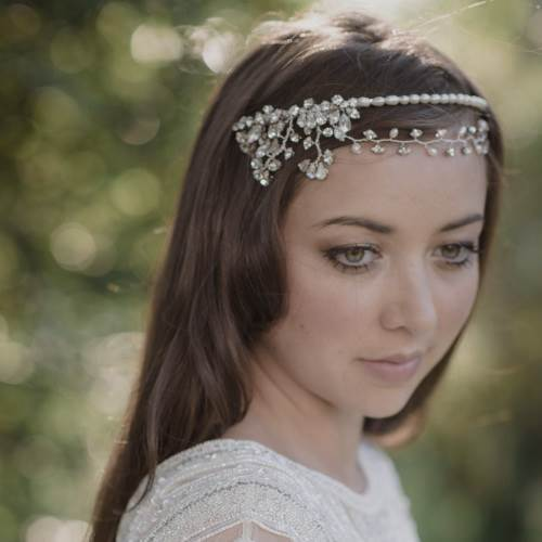 JO Barnes wedding headpiece as featured on the National Vintage Wedding Fair blog