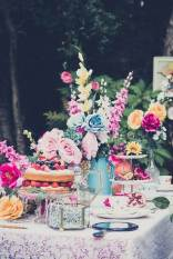 Vintage tea party vintage wedding styled shoot as featured on The National Vintage Wedding Fair blog