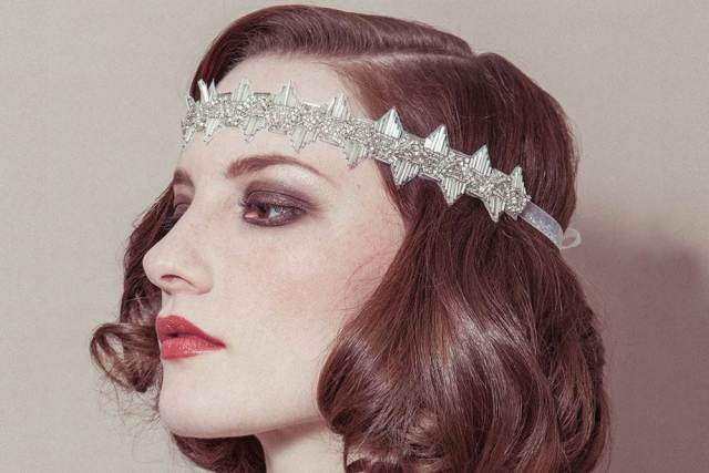 Debbie Carlisle wedding hair accessories as featured on The National Vintage Wedding Fair