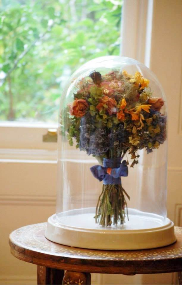 Flower preservation 10 ways to enjoy your wedding flowers forever save my bouquet dried flower domes as featured on national vintage wedding fair blog solutioingenieria