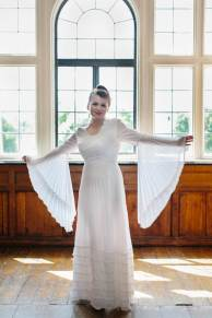National Vintage Wedding Fair - Sue Kwiatkowska models wearing vintage wedding dress