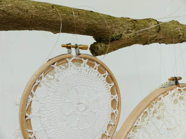 DIY Tutorial How to make a vintage doily wedding wall hanging by The National Vintage Wedding Fair blog 4