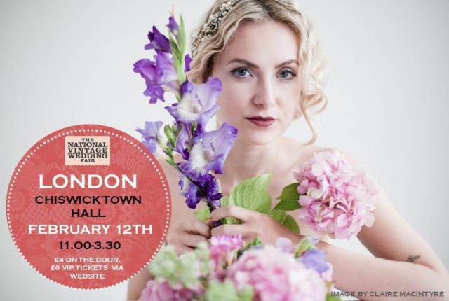 London poster for the National Vintage Wedding Fair