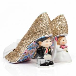 Irregular Choice wedding shoes bride and groom