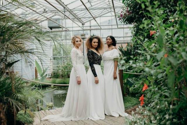 Rock The Frock's premier bridal collection; 1970s, separates, trousers & botanicals