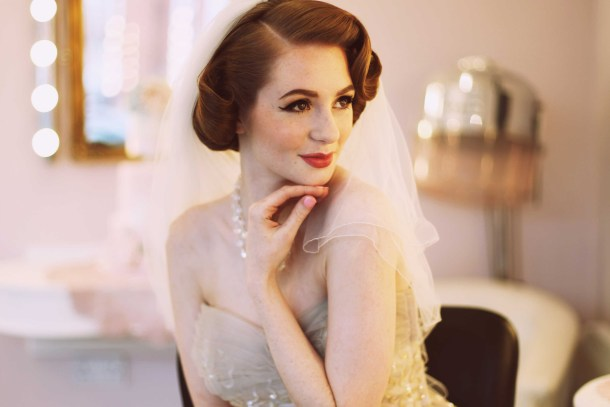 1950s vintage wedding photo by Nina Pang for Magpie Wedding