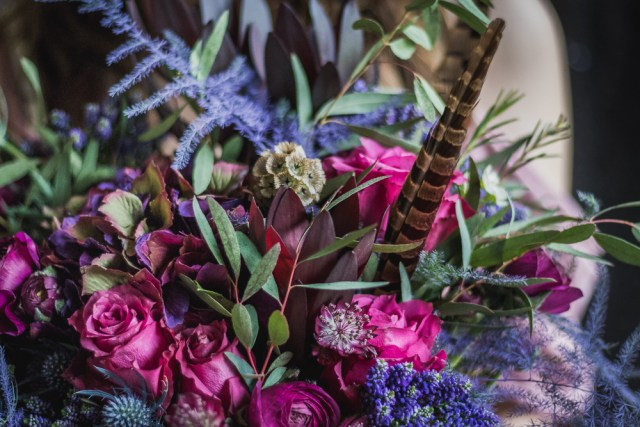Alternative Berry Coloured Bridal Inspiration - A Dark and Moody Magenta and Violet Theme