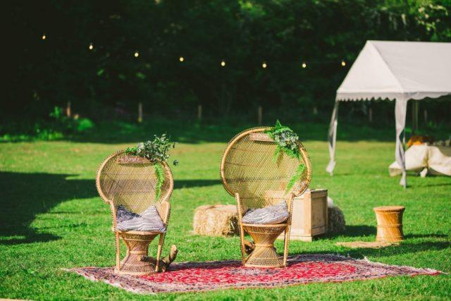 Garden Tipi Wedding with Romantic Rustic Boho Vibes