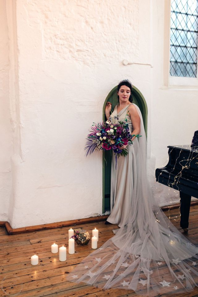 Celestial Wedding Inspiration with Purple and Blue Styling