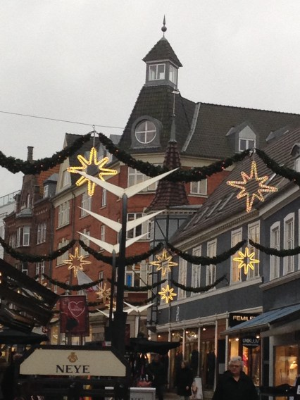 Its mid November, the Christmas lights are beginning to appear around Central Denmark.