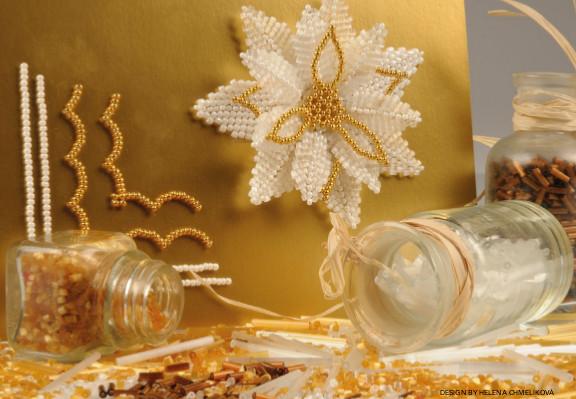 kartka świąteczna z koralikami magraf