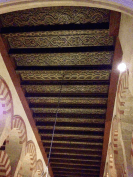 Decorated wooden panel ceiling