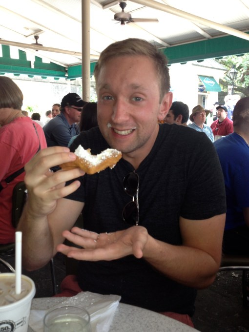 Beignets at Cafe Du Monde in New Orleans