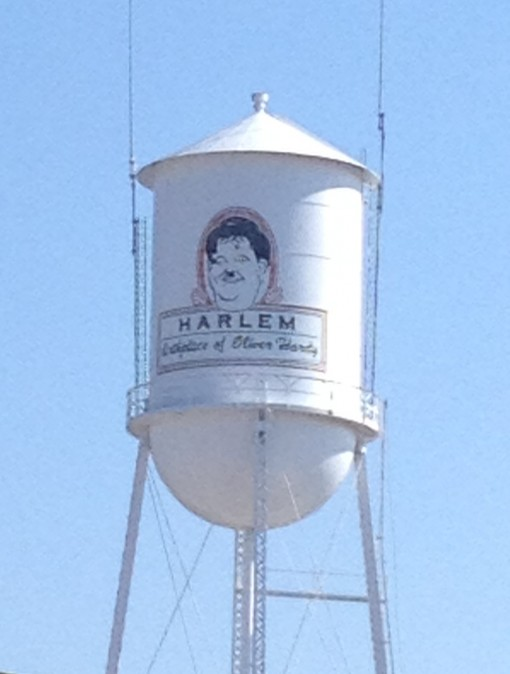 Water Tower in Harlem, GA Birthplace of Oliver Hardy of Laurel and Hardy fame