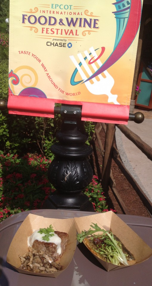 Canadian food at Epcot's food and wine festival