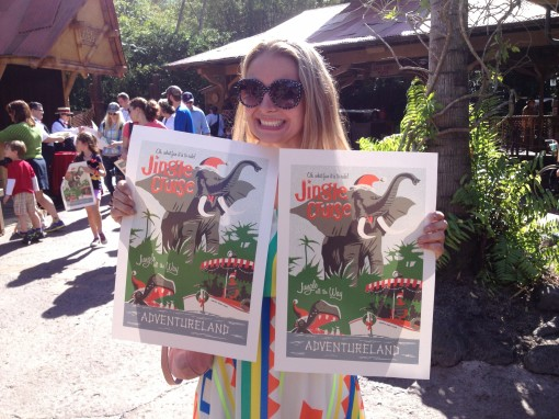 Posters from the Jingle Cruise at Magic Kingdom