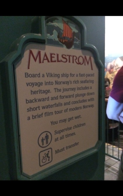 Maelstrom at Epcot's Norway Pavillion in Walt Disney World Florida