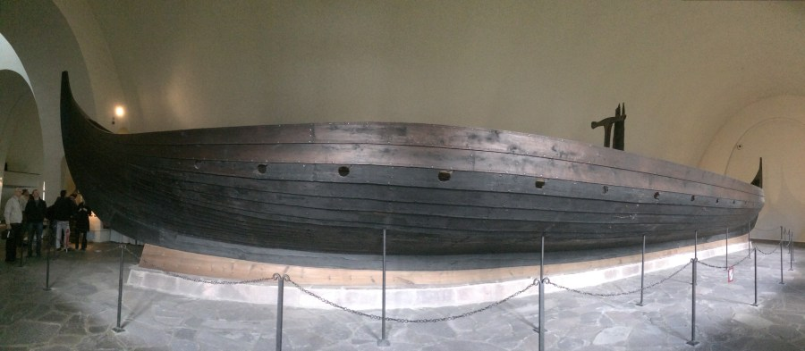 The Gokstad Ship at the Viking Ship Museum in Oslo, Norway.
