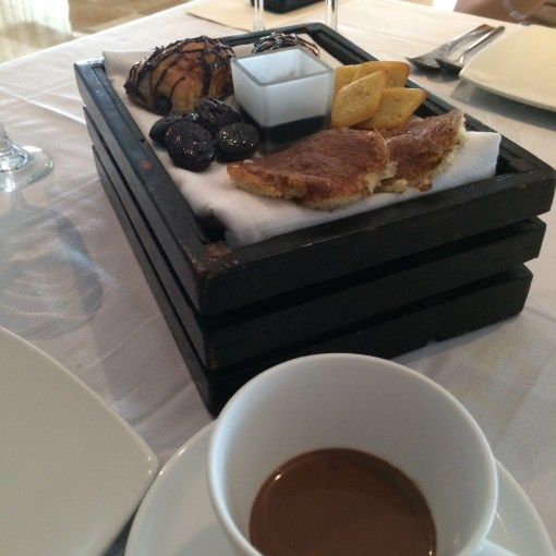 Home Made Bakery Selection and Hot Chocolate at Benazuza in Cancun, Mexico