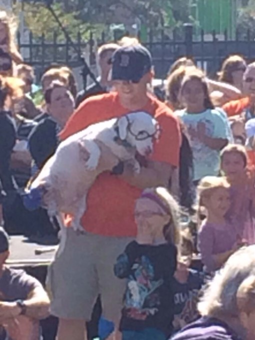 Mr. Peabody at the wiener dog costume contest at Oktoberfest in Savannah, GA