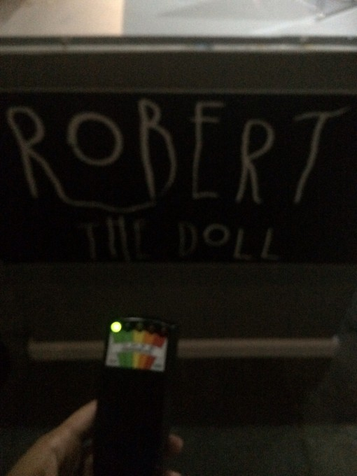 EMF detecor at Robert the Doll in Key West, FL