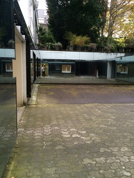 Courtyard where over 400 people were executed between 1944-1945 at the  National Socialism Documentation Center - Cologne, Germany