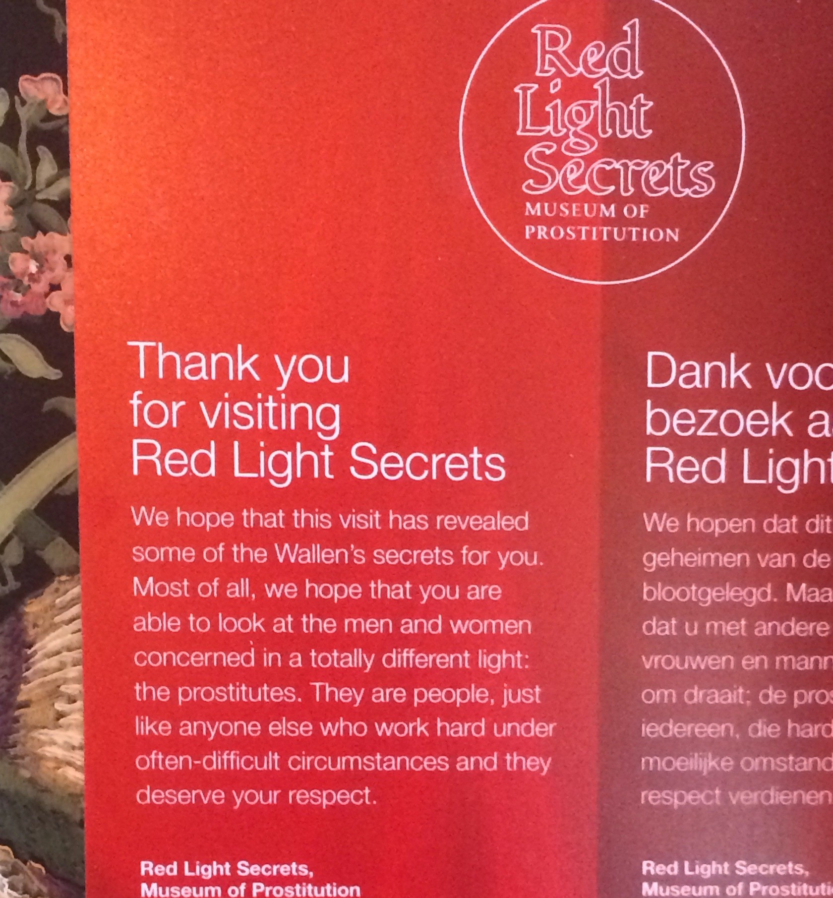 Red light secrets museum of prostitution in amsterdams red light district