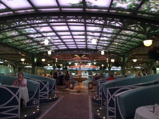 Enchanted Garden Restaurant on the Disney Fantasy- Disney Cruise LInes