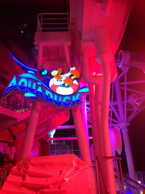Aqua Duck water slide on the Disney Fantasy- Disney Cruise Line